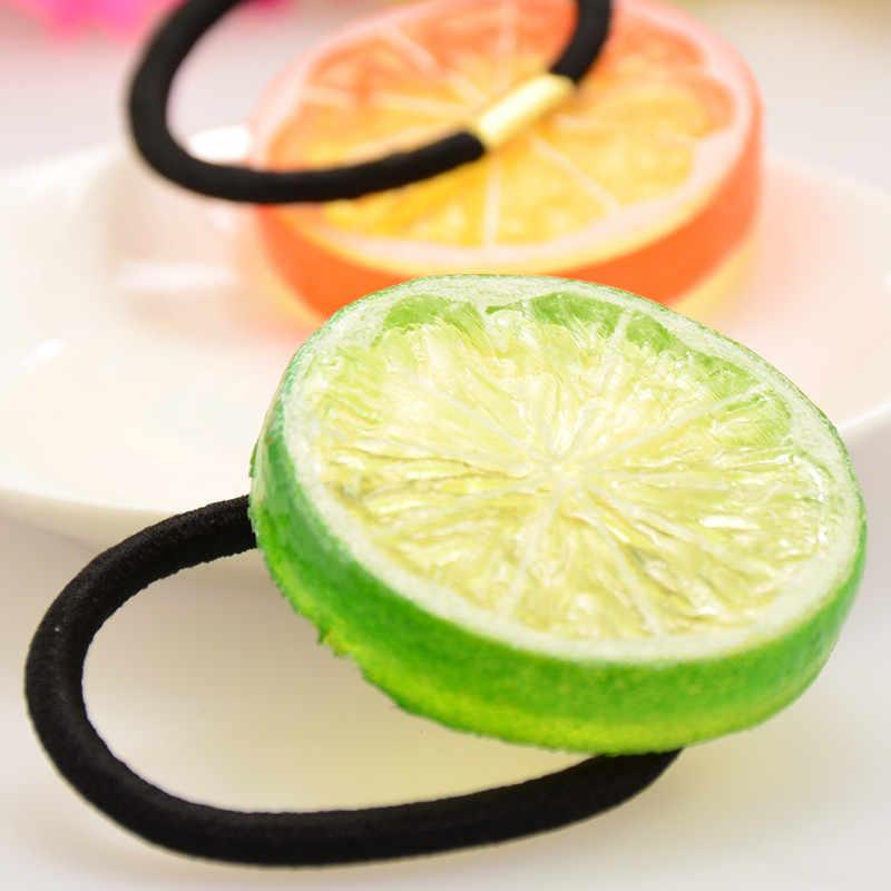 日本の原宿森女性 lemon ヘアピン砂糖クリップかわいいヘアバンドフルーツ生え際ゴムバンド