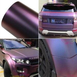 Image 3 - AuMoHall 30 سنتيمتر x 152 سنتيمتر الحرباء لفائف الياف الكربون التفاف سيارة التصميم الداخلي اللون تغيير سيارة ملصق ورقة