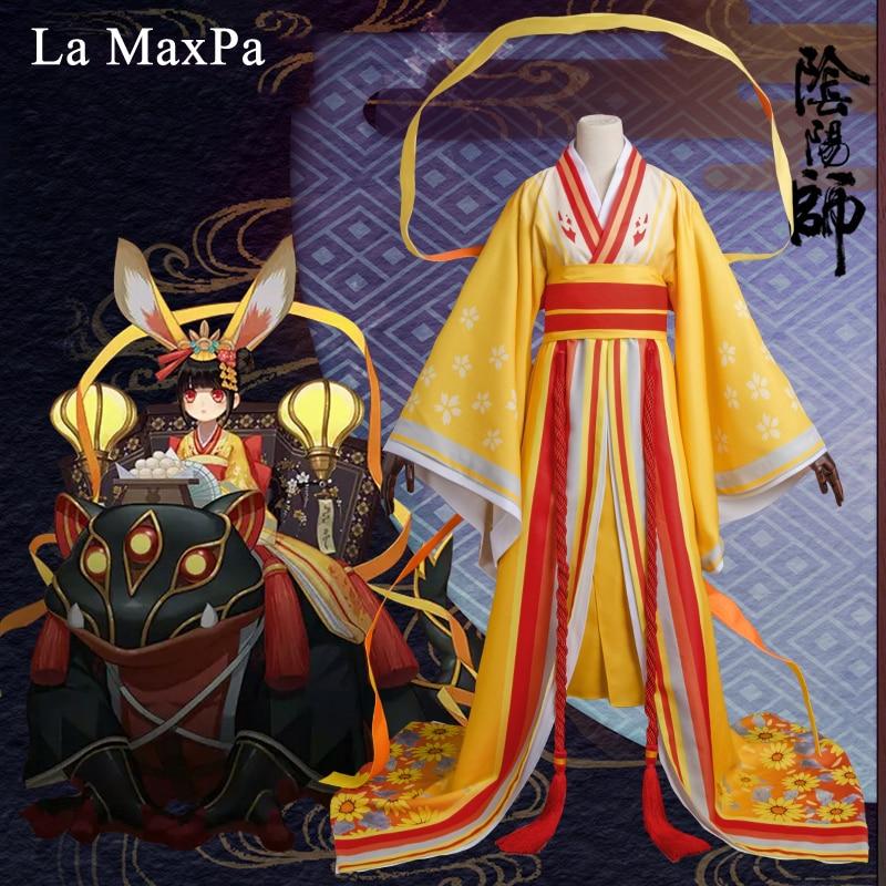 La MaxPa Onmyoji game hellspawn rabbit cosplay Japanese anime costume for girls women anime Halloween christmas kimono idolized