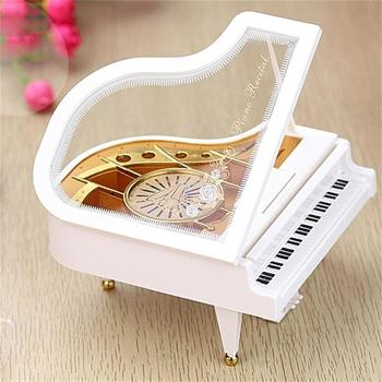 Mini Clockwork Piano Music Box Melody Musical Boxex Kids Adult Gift Edelweiss Home Decor Wedding Party Favors 1