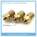 5Pcs 3D printer 3D V6&V5 J-Head brass nozzle extruder nozzles 0.2/0.25/0.3/0.4/0.5/0.6/0.8/1.0 mm For 1.75/3.0mm supplies hotend