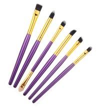 High Quality 6PCS/set Professional Eye Brushes Set Eyeliner Brushes Packing Cosmetic Make Up Brush Tools Kit JU303