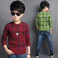 Boys Sweaters Plaid Bottoming Shirts Children Autumn Knitted Clothes Enfant Knitwear Casual Kids Clothing Vestido Infantil 3-12Y