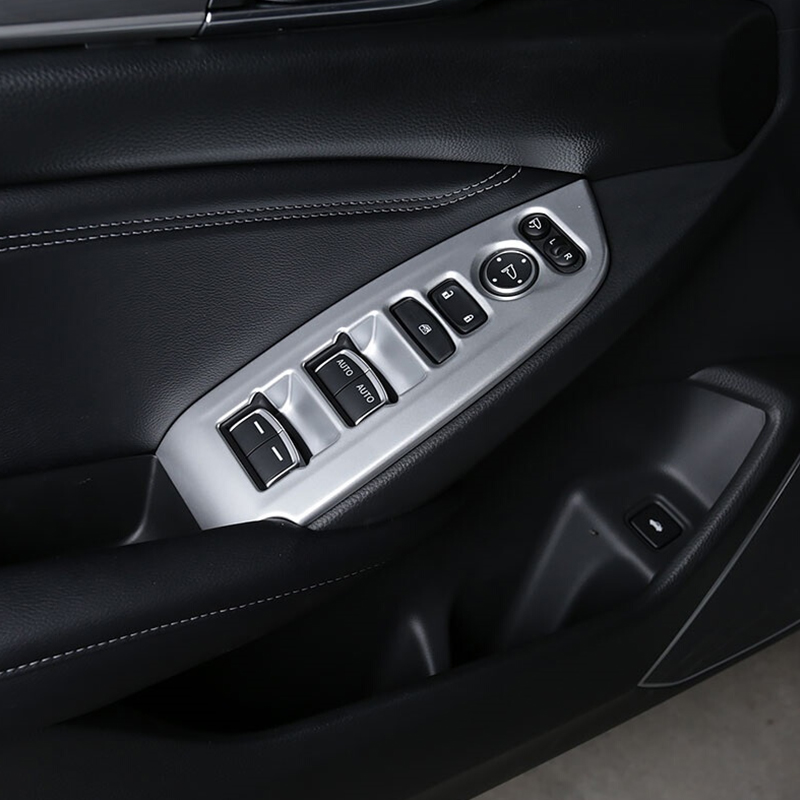 ABS Matte/Carbon fibre For <font><b>Honda</b></font> <font><b>Accord</b></font> 10th <font><b>2018</b></font> 2019 <font><b>Accessories</b></font> LHD Door Window glass Lift Control Switch Panel car styling image