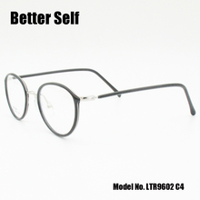 Better Self LTR9602 Retro Round Glasses Frame Women Optical Clear Lens Eyewear Light TR90 Myopia Spectacles