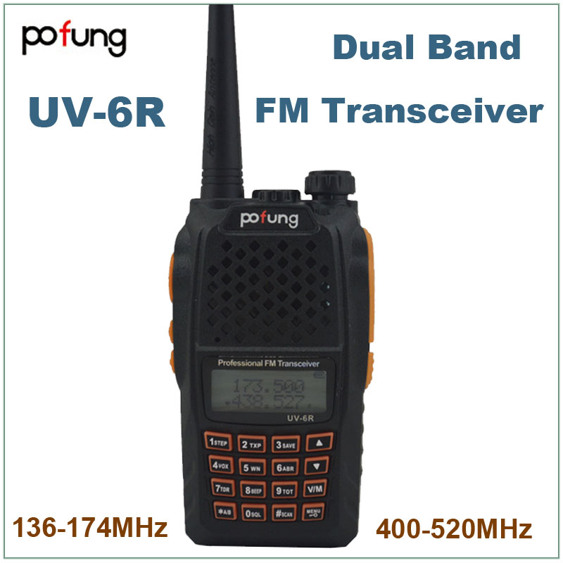 Pofung Baofeng 2015 VHF UHF 136 174MHz 400 520MHz Two Way Radio UV 6R Walkie Talkie