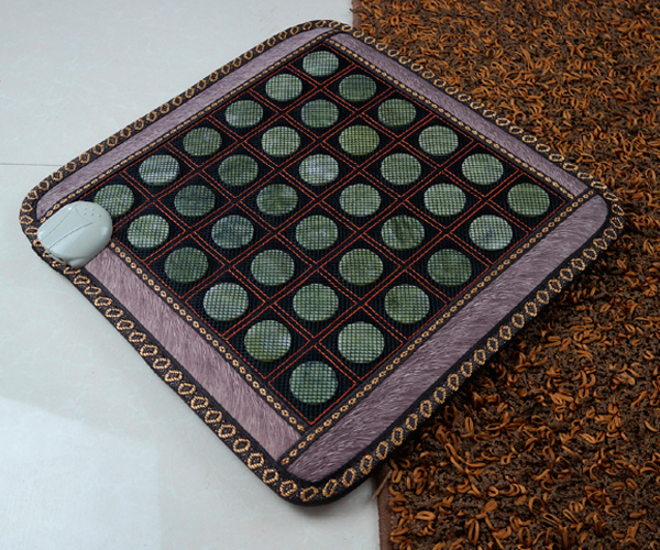 Wholesale+ Free Shipping for Jade Heat Seat Pad Jade Care Electric Heated Cushion Physiotherapy Cushion Jade Massage Pad 45*45CM newest drivers car massage cushion seat jade heating kneading massage cushion free shipping
