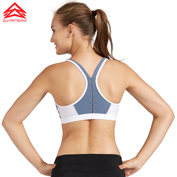 SYPREM seamless sports bra women sexy mesh back bra no steel ring breathable yoga brand underwear push up sports bra,1FT1070 2