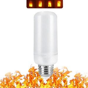 Image 3 - B22 E27 E26 E14 E12 żarówka LED z efektem płomienia 85 265V efekt płomienia LED lampka imitująca ogień migotanie emulacji Decor lampy LED 3W 5W 7W 9W