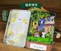 Кукольный Дом Сделай Сам miniaturas 3D Деревянные Головоломки миниатюрный Кукольный Домик Мебель Рождения Творческие Подарки Игрушки Куклы Дом-Секретный замок