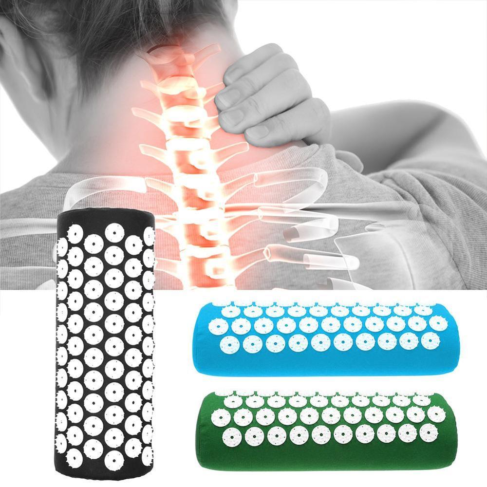 NOVO Massageador Acupuntura Travesseiro Estresse Aliviar A Dor Do Corpo Corpo Almofada de Massagem de Acupressão Algodão Travesseiro Massageador