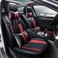 3D Estilo Do Esporte Almofada Tampa de Assento Do Carro Para Hyundai ix35 ix25 i30 Sonata Elantra Santa Fe Tucson Alta-fibra de couro Do Carro-Cobre