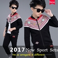 Children Casual Sport Clothes Sets Boys 2017 Spring New National Style Coat&pant Fashion Kids Boys Clothing Tow Suit