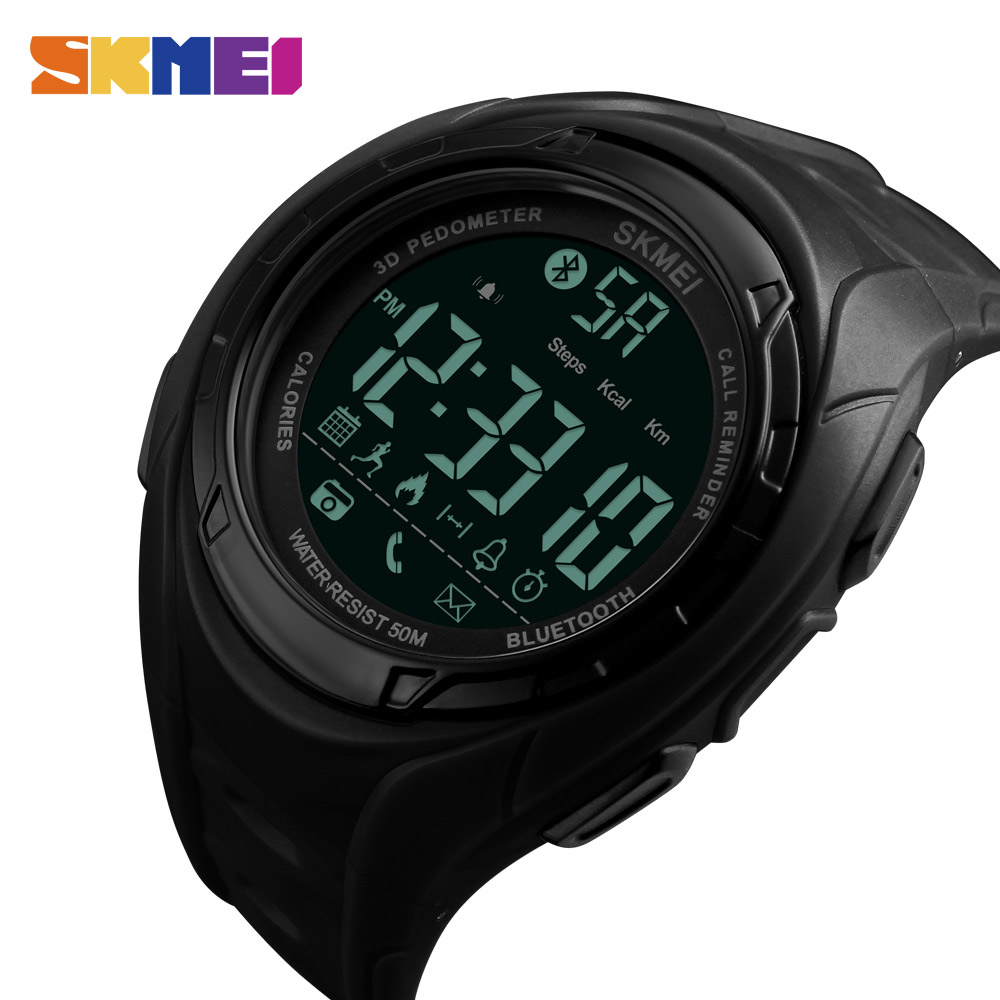 SKMEI Bluetooth Smart Watch Pedometer Calories Outdoor Sports Watches Men Fashion Wristwatches For IOS Android Relogio Masculino