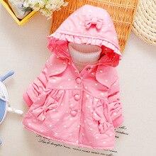 Новая мода девушки зимнее пальто jaclet ребенок девочек толстые куртки пальто детская одежда куртки