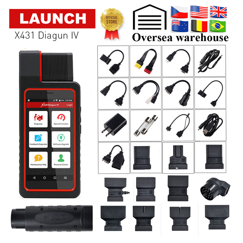 LANCEMENT X431 Diagun IV OBD2 Auto Système Complet Outil De Diagnostic Soutien Bluetooth/Wifi X-431 Diagun IV Scanner bon que diagun III