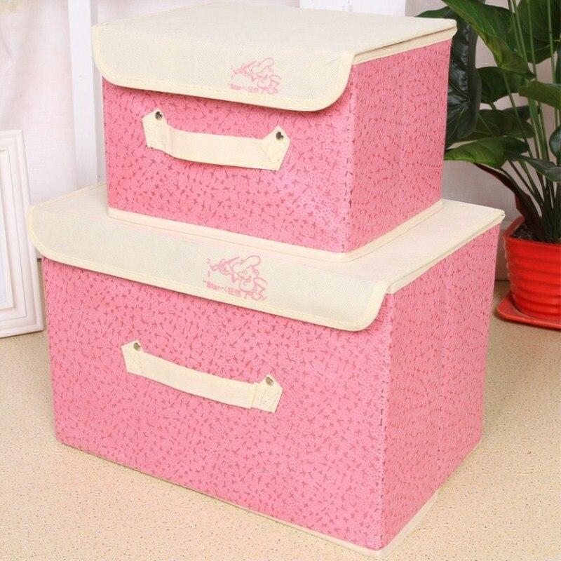 High-Density Thick Cardboard Triangle Lid Fashion Storage Box Quality Non-Woven Storage Frame Storage Casket Buckle Box</f