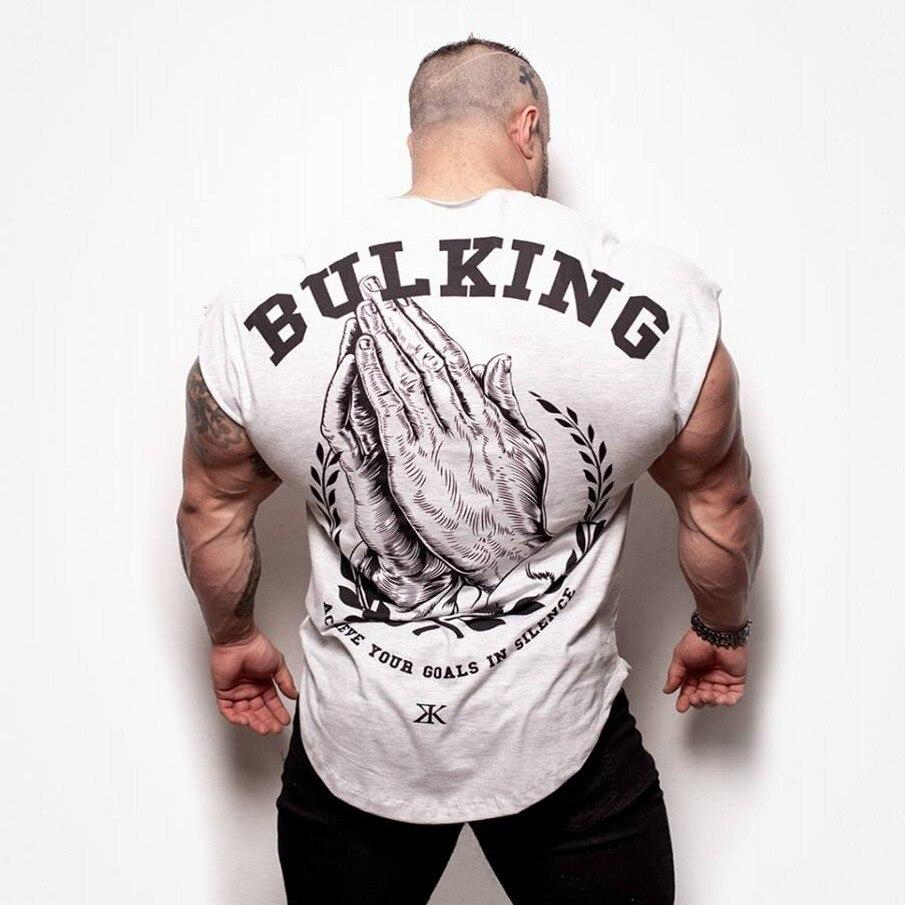 2019 fashion Golds gyms Brand singlet canotte bodybuilding stringer   tank     top   men fitness vest muscle guys sleeveless vest