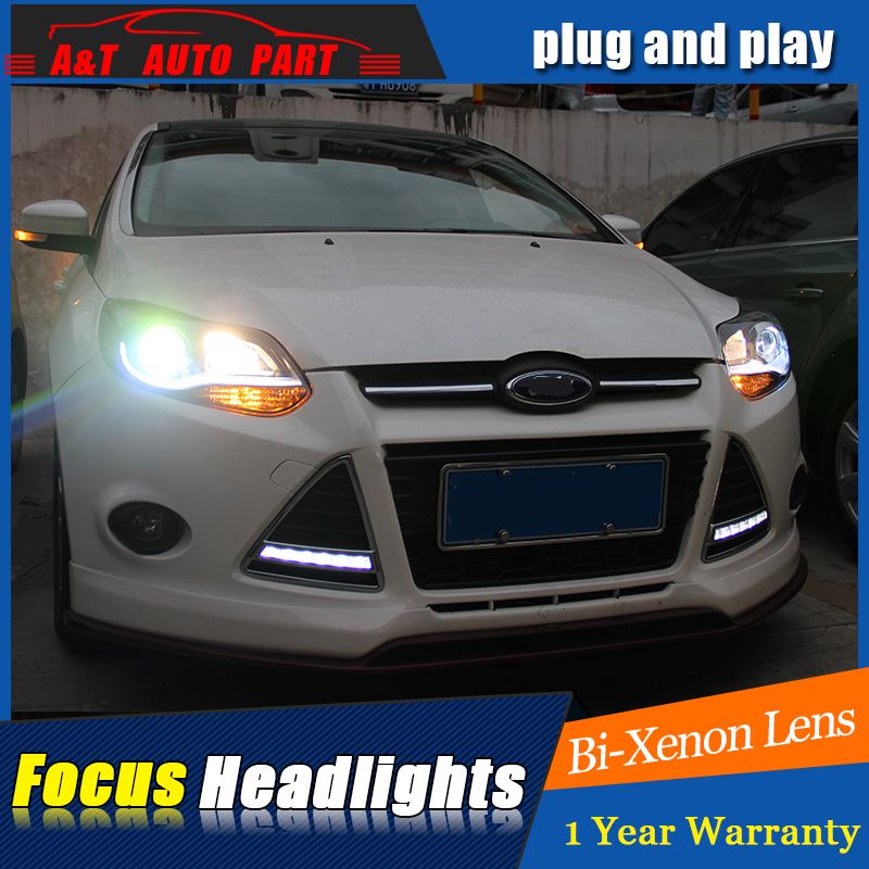 Auto Part Styling For Ford Focus Headlights   For Ford Focus Bi Xenon Lens H Xenon In Car Light Assembly From Automobiles Motorcycles On