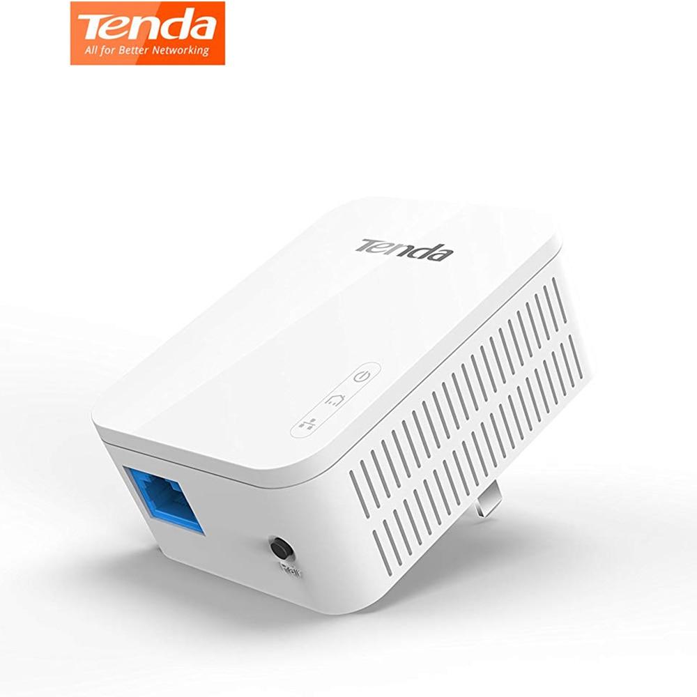 1 paquet adaptateur de ligne électrique Tenda AV1000 Gigabit jusqu'à 1000 Mbps PH3 Ethernet PLC Homeplug pour partenaire de routeur WiFi sans fil IPTV AV2