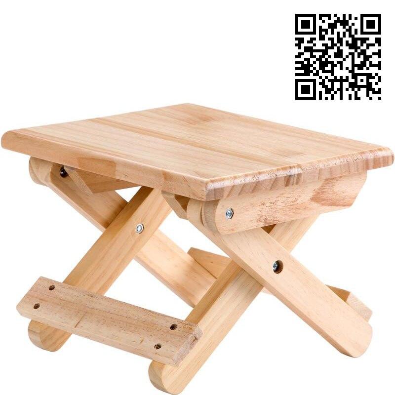 Image 5 - Vanzlife pliable bois massif tabouret chaise portable train pliable tabouret adulte organisateur petite chaise banc pliant-in Tabourets et poufs from Meubles on AliExpress