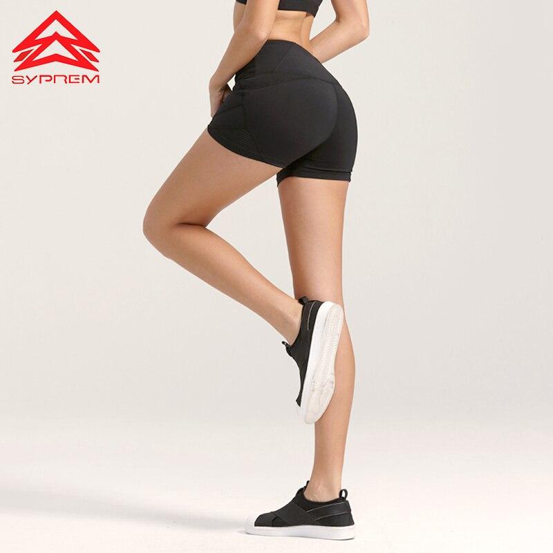 Syprem Damen Laufshorts Sport Atmungsaktiv Schwarz Kurze Leggings - Sportbekleidung und Accessoires - Foto 3