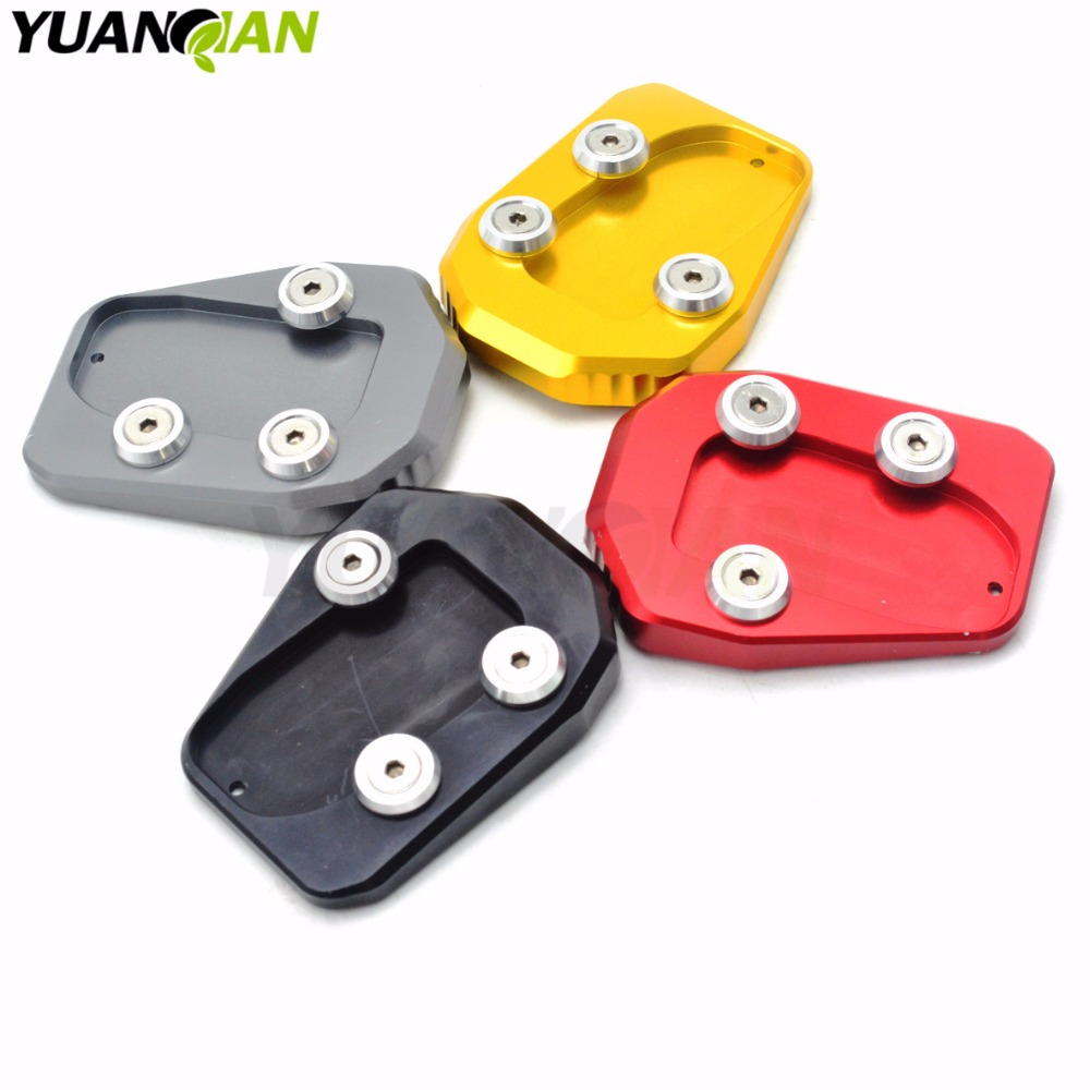 Motorcycle Foot Side Stand Enlarger extension kickstand plate pad for Yamaha MT09 MT-09 FZ09 FZ-09 FJ09 2013-2015 2013 2014 2015  for yamaha mt09 mt 09 mt 09 2013 2015 2014 new motorcycle parts kickstand foot side stand enlarge extension pad support plate