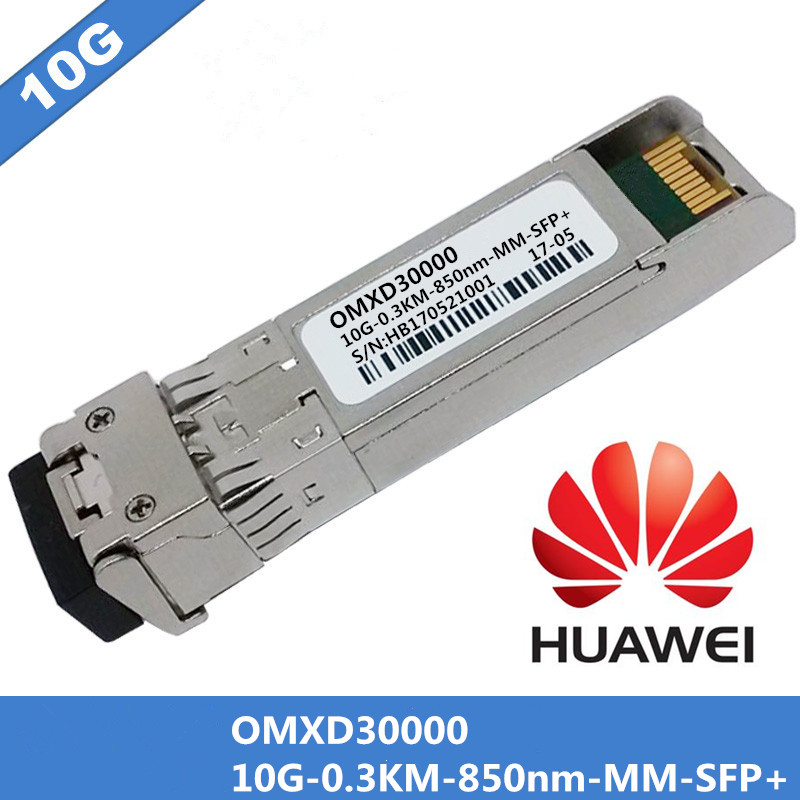 1pcs For Huawei OMXD30000 SFP+Optical Module 10G-0.3km-850nm-MM-SFP+ DDM Multimode Duplex Fiber Cable LC Connector1pcs For Huawei OMXD30000 SFP+Optical Module 10G-0.3km-850nm-MM-SFP+ DDM Multimode Duplex Fiber Cable LC Connector