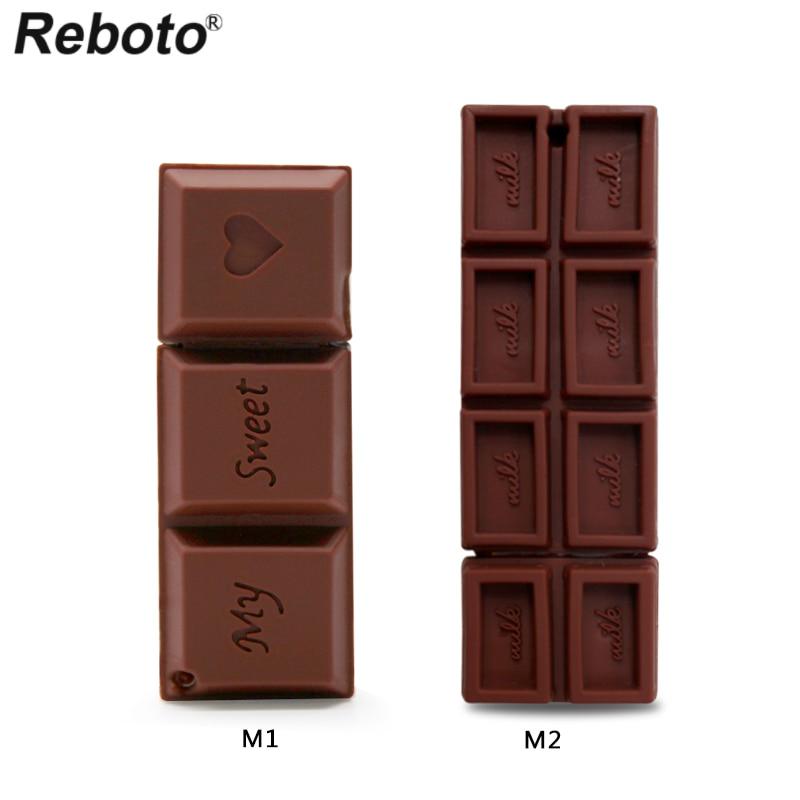 Retobo Usb 2.0 Pendrives Personalizado 64GB יצירתי שוקולד מתוק עט כונן 64GB USB כונן 4GB 8GB 16GB 32GB חתונה מתנה