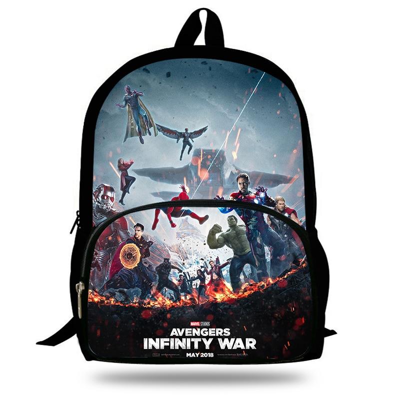 fec6e6b6d7 16 inch Mochila School Kids Backpack Avengers Infinity War Printing Cartoon  Children School Bags Boys Teenage Girls Backpacks-in Backpacks from Luggage  ...