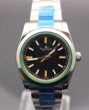 Новый Элитный бренд Для мужчин автоматические механические self-ветер просто часы Нержавеющаясталь золото черный, белый цвет Дата мужские часы 36 мм