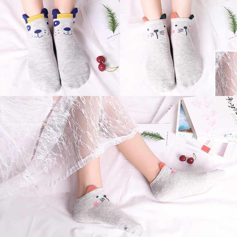 M MISM/высокие эластичные короткие носки в полоску для девочек, женские хлопковые модные мягкие носки до лодыжки с героями мультфильмов, лидер продаж, женские короткие носки Kawaii