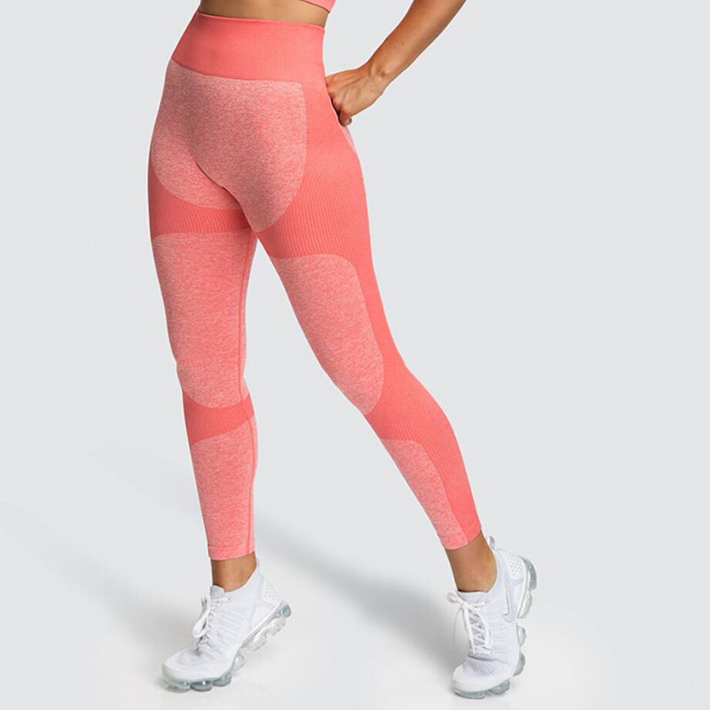 Fitness Seamless Knit Hips Moisture Wicking Yoga Pants Sports Casual Women's Leggings Free Shipping