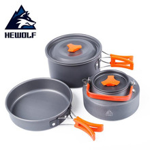 Outdoor picnic cooker utensils camping pot wild waerte high quality cookware tool 2-3 person Wild Cooking Set  Tools