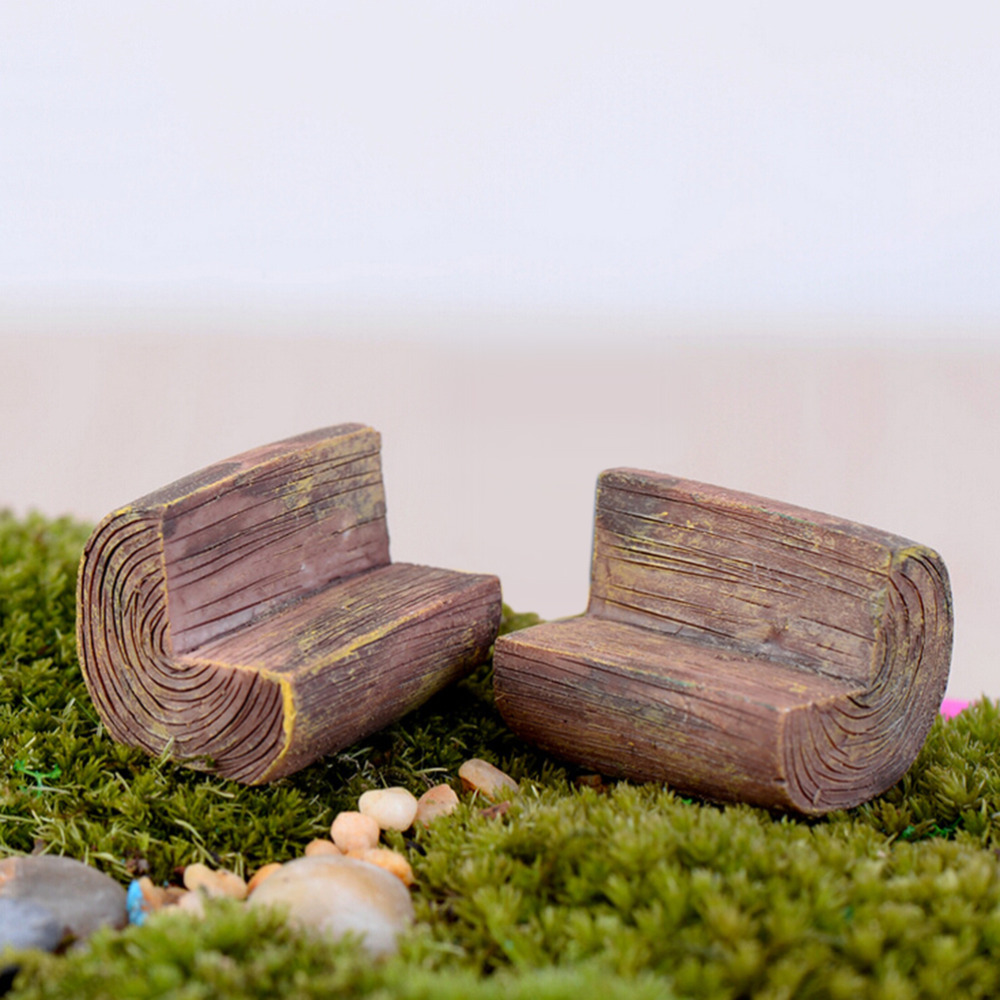 Stupendous Us 0 2 74 Off 1 Pcs 3Cm Garden Ornament Miniature Figurine Park Bench Chair Handmade Diy Resin Craft Micro Landscape Decoration Wooden Stool In Ocoug Best Dining Table And Chair Ideas Images Ocougorg