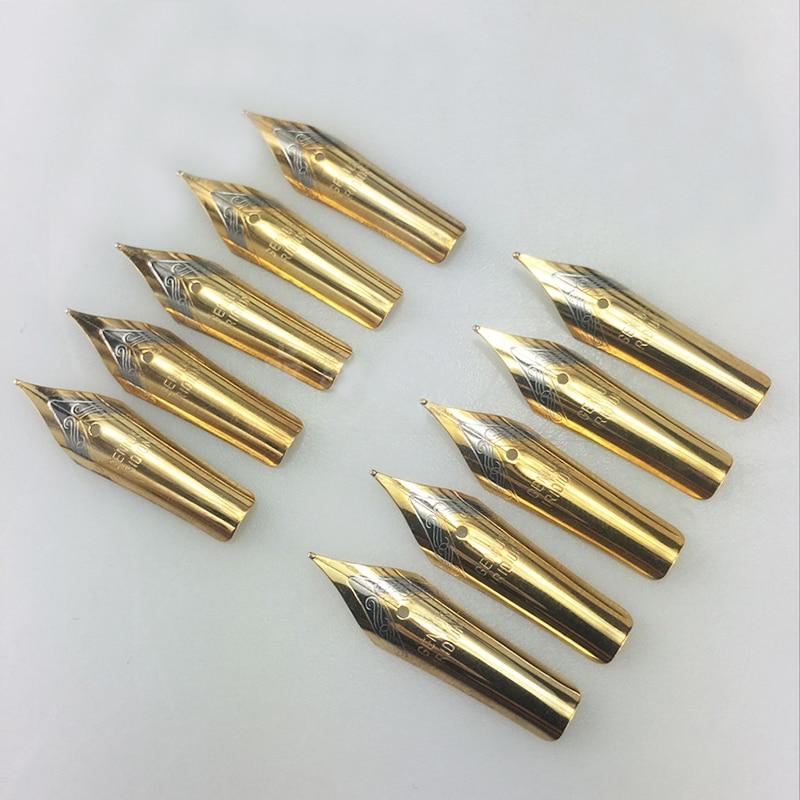 5pcs Fountain Pen Nib Stainless Steel Replace Nib Universal 0.5mm Straight/curved Nib School Accessories недорго, оригинальная цена