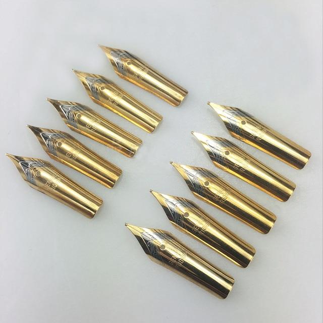 5pcs Fountain Pen Nib Stainless Steel Replace Nib Universal 0.5mm Straight/curved Nib School Accessories
