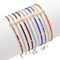 ZMZY minimalisme mince bohème Miyuki Bracelet Femme amitié bracelets pour Femme perle Bracelet cristal perles de rocaille bijoux