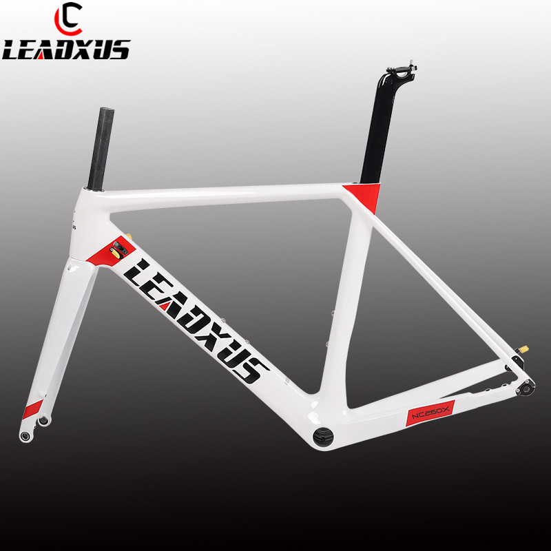 LEADXUS 2019 Newest Disc Brakes Carbon Road Bike Frame T800 Thru Axle Disc Brake Carbon Fiber Bicycle Frame XS/S/M/L/XL
