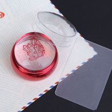 2pcs/set NEW  2017 Top Quality Red Metal Nail Art Stamper Clear Jelly Silicone Head with Cap & 1*Scrapers, YZ54711