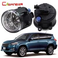 Cawanerl Araba Styling LED Işık Ön Sis Işık Gündüz işık DRL Toyota Vanguard Için 12 V DC Beyaz Mavi Turuncu 2006-2012