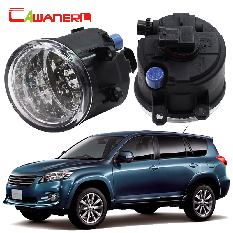 Cawanerl Car Styling LED Light Front Fog Light Daytime Running Light DRL 12V DC White Blue Orange For Toyota Vanguard 2006-2012 cawanerl for toyota highlander 2008 2012 car styling left right fog light led drl daytime running lamp white 12v 2 pieces