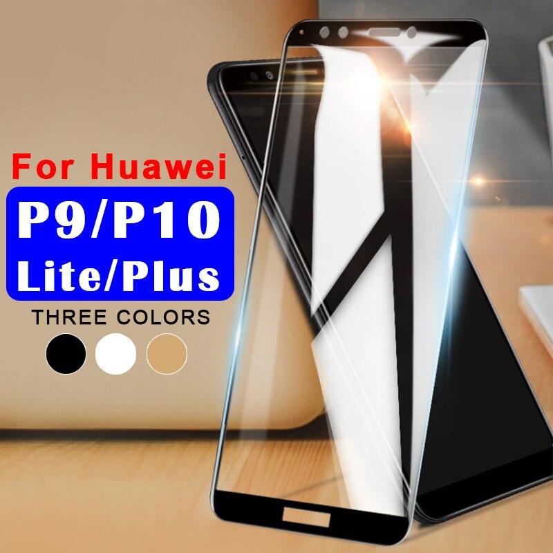Verre de protection sur pour huawei p10 lite verre trempé p9 p 9 10 plus léger p10lite protecteur d'écran huawey hauwei film 10 p 9 p