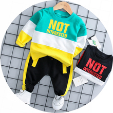 ZWXLHH Hot Sell Baby Boy Girl Clothing Sets  Kid Child Clothes Suits Infant T Shirt Pants Casual Sport Suit