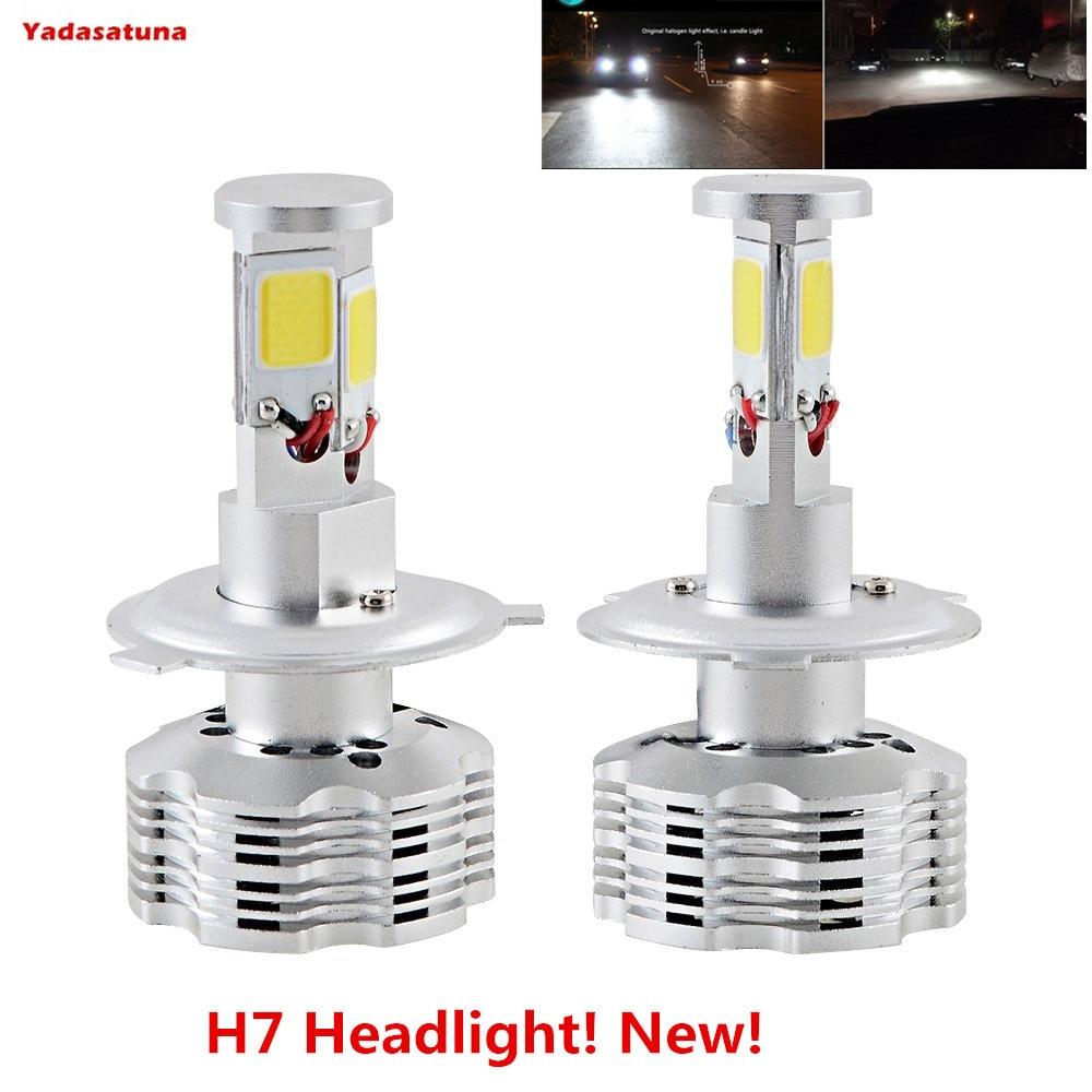 2x H7 LED Faro Bombillas Alquiler de luces LED 120W 12000Lm LED lampara con la viruta del COB para el coche vehiculo NO CANBUS silla de director plegable de madera con bolsas para maquillaje pelicula studio hw46460