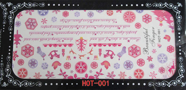 pink*Nail art water transfer decal/stickers/print/accessories *wholsale*drop shipping *   hot 001 - 017 series