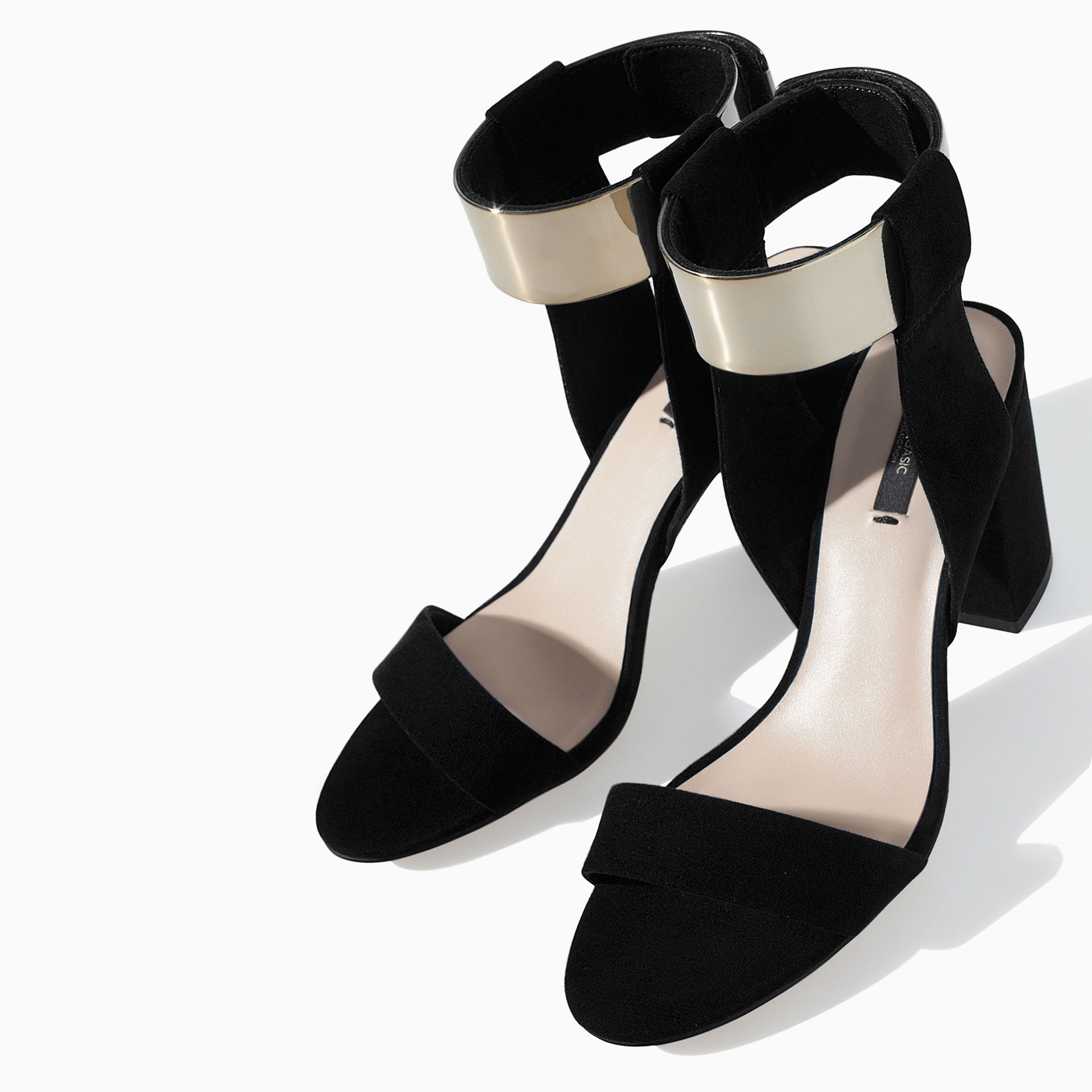 2014 Women Shoes High Heels Summer Geniue Leather Open Toe Sandals Round Square Thick Heel Black blue Pumps - Gold Coast store