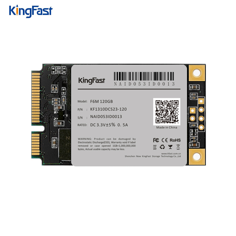 F6M Kingfast high quality internal SATA III 6Gbps MLC Msata ssd 120GB Solid State hard disk Drive for ultrabook/laptop/notebook original fit for dell 64gb sata 6gbps dom internal solid state drive ssd mfr p n 6gmmx 06gmmx cn 06gmmx 100