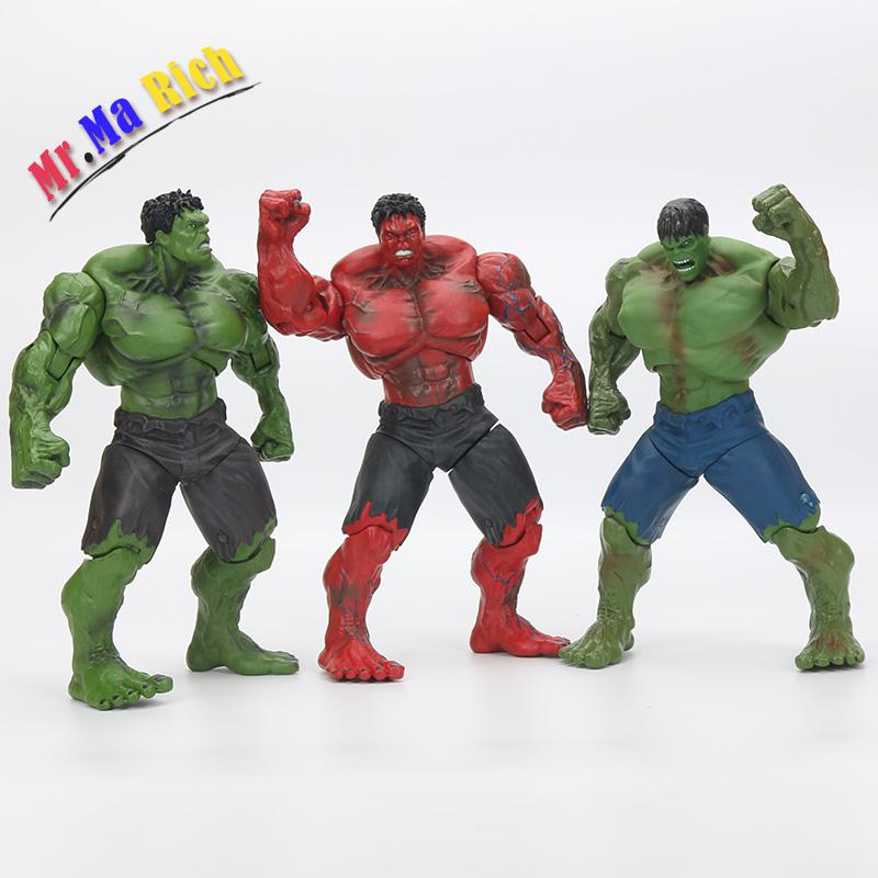 Anime Super Hero The Hulk Pvc Action Figure Toy 26cm Red Hulk Figures Toys Character Children Gift movie super hero the hulk pvc action figure toy 25cm red hulk green hulk figures toys free shipping
