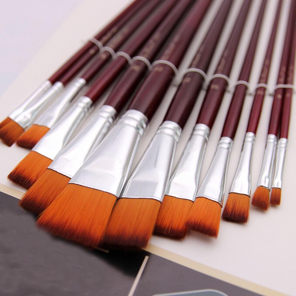 12 Pcs Paint Brush Set Paint Gouache Painting In Oil Painting Palettes Pens